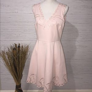 NWT Ted Baker Emalise Embroidered Fit&Flare Dress